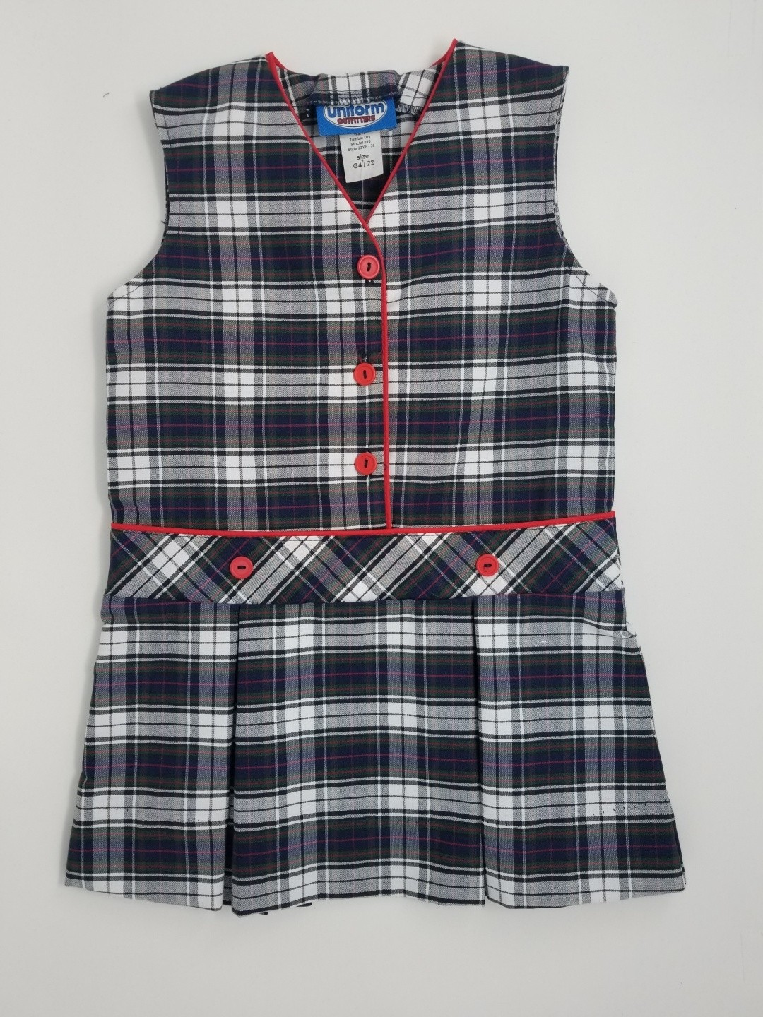 Drop Waist Jumper- Style 30-Plaid 23