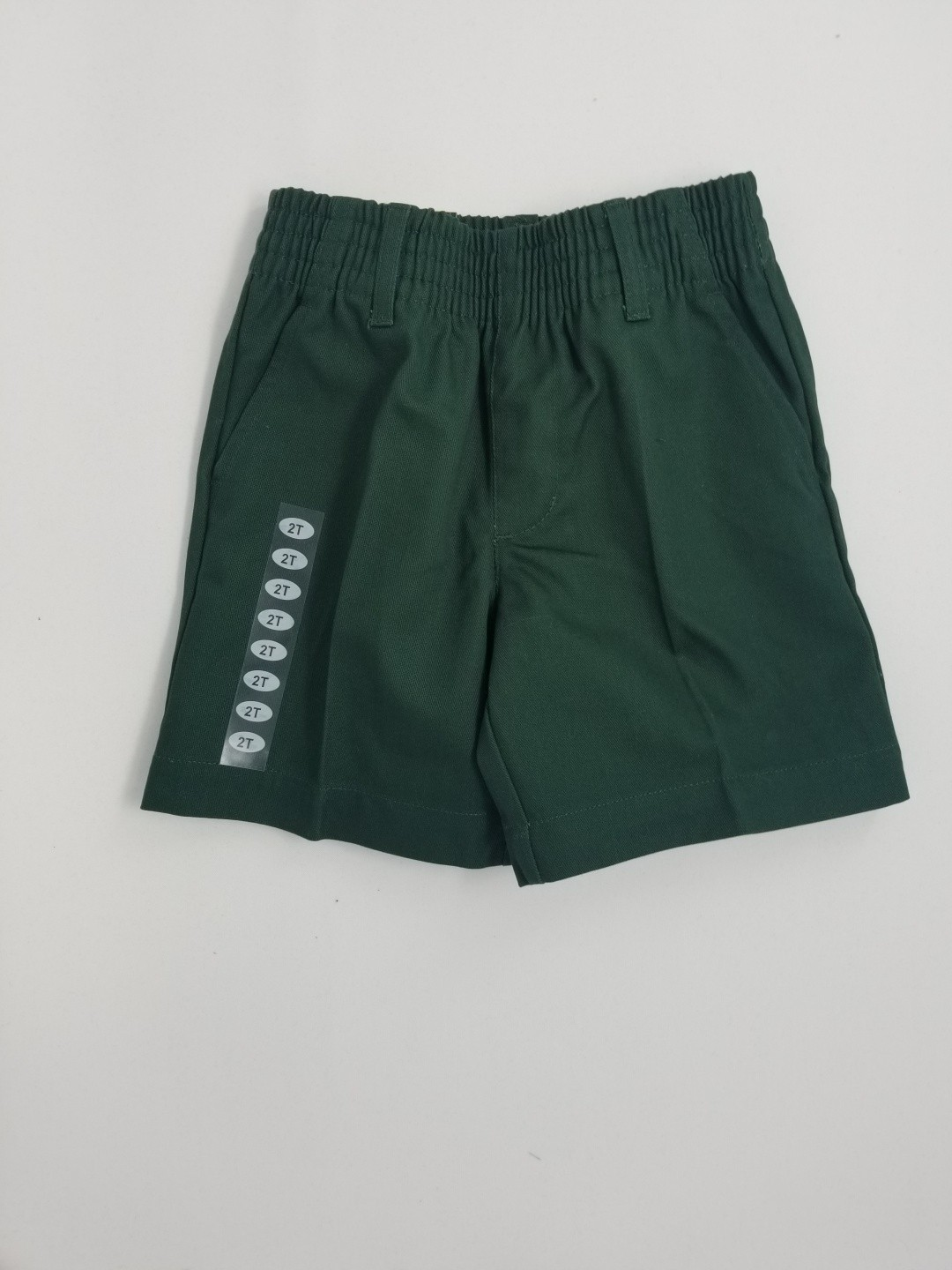 Boys Pleated Shorts-Hunter Green