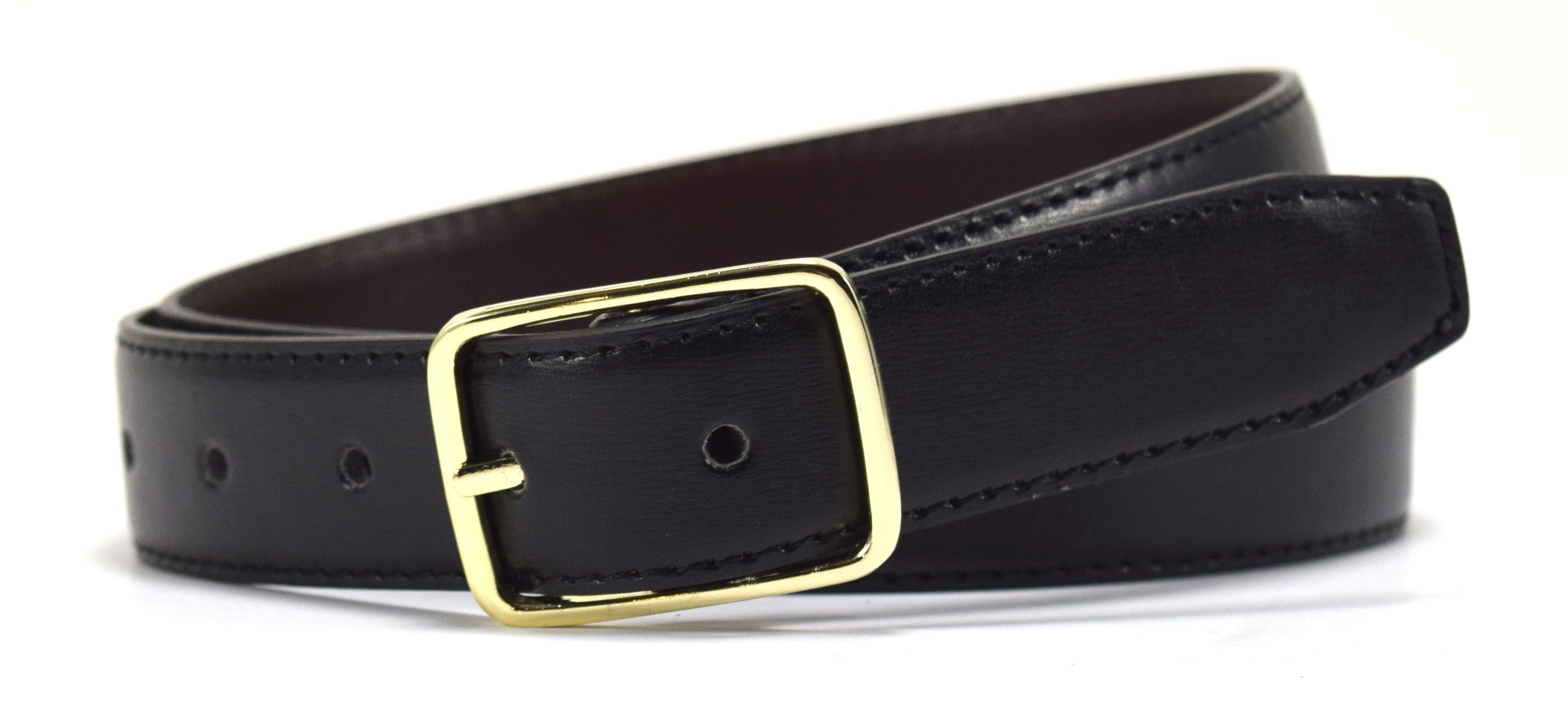 Reversible Leather Belt-Navy/Black
