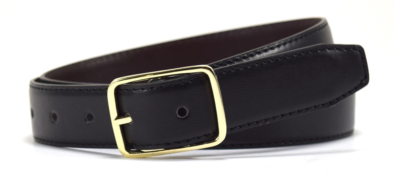 Reversible Leather Belt-Black/Brown