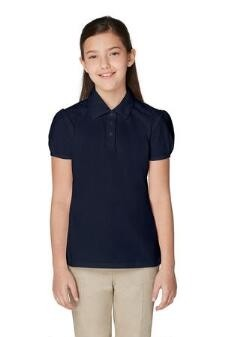 Girl Fancy Collar Polo- Short Sleeve