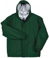 Hooded Jacket with Lining-Hunter Green