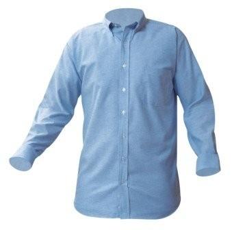 Oxford Shirt- Long Sleeve-Light Blue