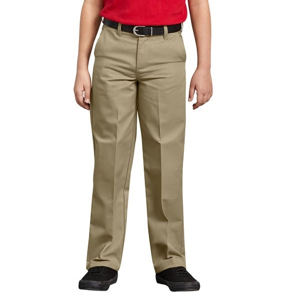 Best Value Boys Flat Front Pant