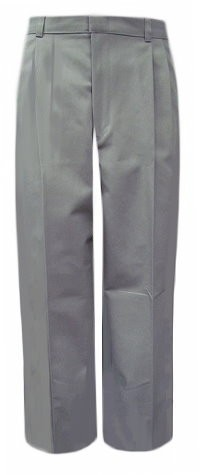 Girls Pants- Solid Color- Pleated Front-Grey