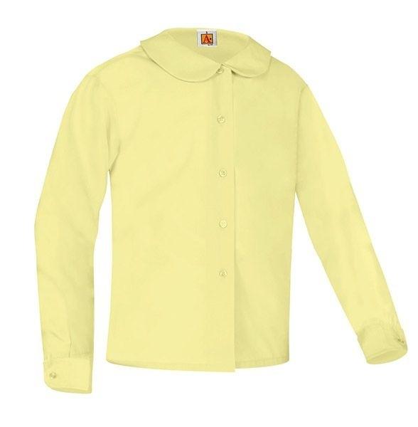 Peter Pan Blouse- Long Sleeve-Yellow