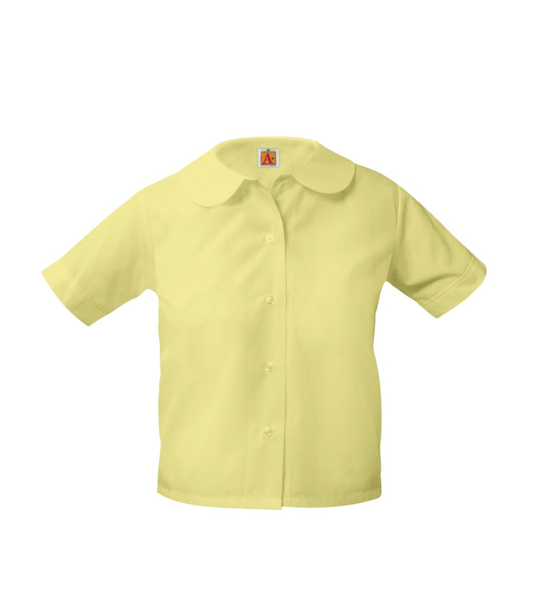 Peter Pan Blouse- Short Sleeve-Yellow