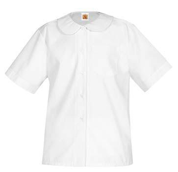 Peter Pan Blouse- Short Sleeve-White