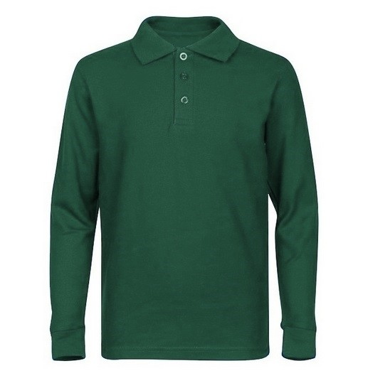 Unisex Banded Sleeve Knit Shirt - Smooth/Jersey - Long Sleeve-Hunter Green