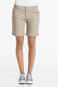 Girls Best Value Solid Color Short-Khaki