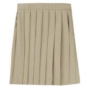 Pleated Skirt- Solid Colors-Khaki