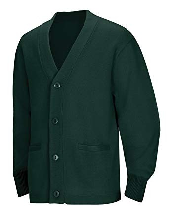 Cardigan Sweater with Pockets-Hunter Green