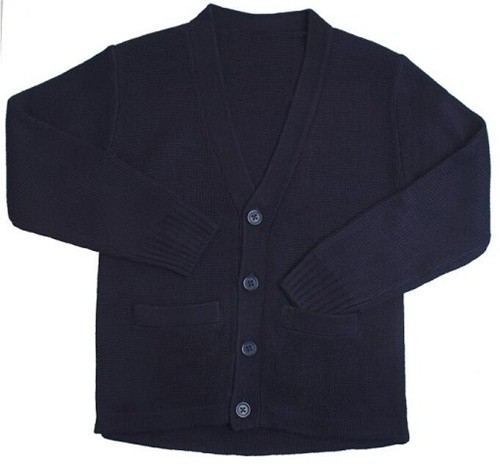 Cardigan Sweater with Pockets-Navy