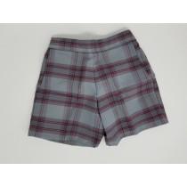 Girls Plaid Shorts- Uncuffed
