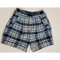 Girls Plaid Shorts- Cuffed hem