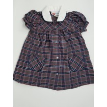 Plaid Smock Dress-Plaid 31
