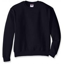Sweatshirt with Applique Letters-Posh Early (Plaid Letters on Black Sweatshirt)
