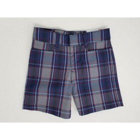 Girls Plaid Short- Uncuffed-Plaid 20