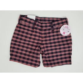 Girls Plaid Short- Uncuffed-Plaid 26