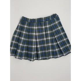 Stitch Down Pleat Skirt- Style 11-Plaid 50