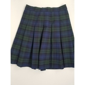 Stitch Down Pleat Skirt- Style 11-Plaid 14