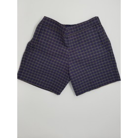 Girls Plaid Short- Uncuffed-Plaid 18
