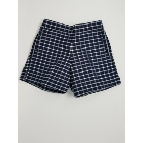 Girls Plaid Short- Uncuffed-Plaid 8