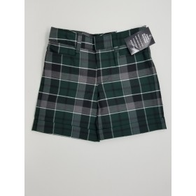 Girls Plaid Short- Uncuffed-Plaid 13