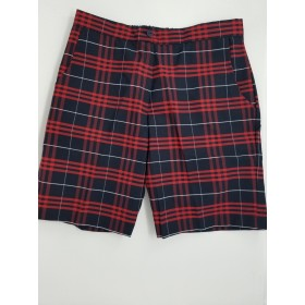 Girls Plaid Short- Uncuffed-Plaid 77