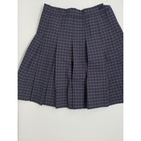 Stitch Down Pleat Skirt- Style 11-Plaid 18