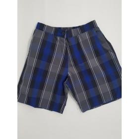 Girls Plaid Shorts- Uncuffed-Plaid 88