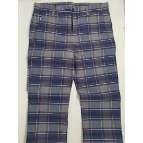 Girls Plaid Pants- Flat Front-Plaid 20