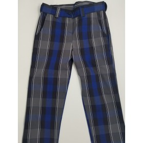 Girls Plaid Pants- Flat Front-Plaid 88