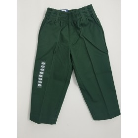 Boys Pleated Pants-Hunter Green