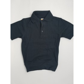 "Banded Bottom ""No Tuck"" Knit Shirt- Smooth/Jersey- Short Sleeve-Navy"