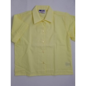 Sport Collar Blouse-Yellow
