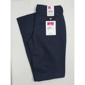 """Girls """"Slash Pocket"""" Pants- Solid Color- Flat Front-Navy"""