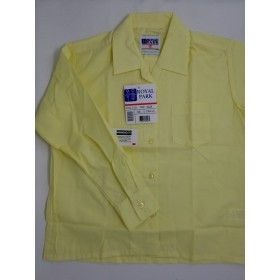 Sport Collar Blouse- Long Sleeve-Yellow