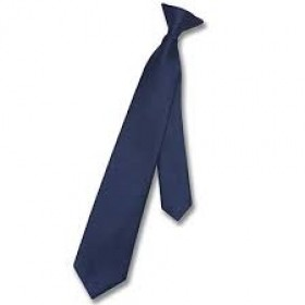 Boys Clip-on Necktie-Navy