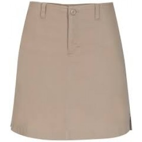 Stretch Fly-Front Skort-Khaki