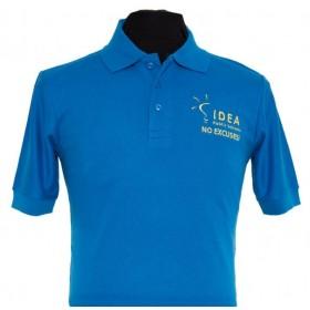 Pique Knit Polo for IDEA Public Schools- Short Sleeve-IDEA Blue