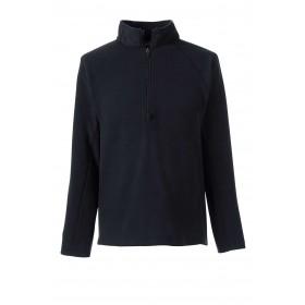 Polar Fleece Jacket- Half Zip-Black