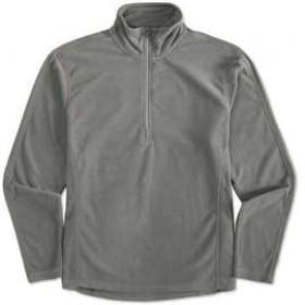 Polar Fleece Jacket- Half Zip-Grey