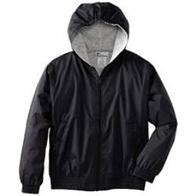 Hooded Jacket with Lining-Black