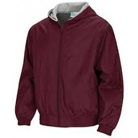 Hooded Jacket with Lining-Maroon