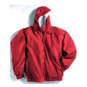 Hooded Jacket with Lining-Red