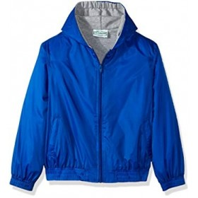 Hooded Jacket with Lining-Royal Blue
