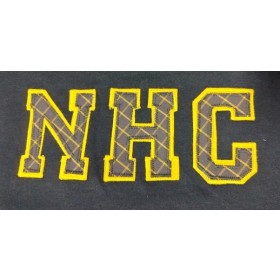Sweatshirt with Applique Letters-New Hope Elementary Girls (Plaid Letters)