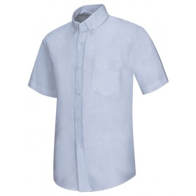 Oxford Shirt- Short Sleeve-Oxford Blue
