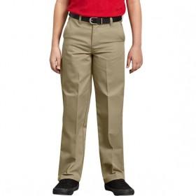 Boys Flat Front Pants-Khaki